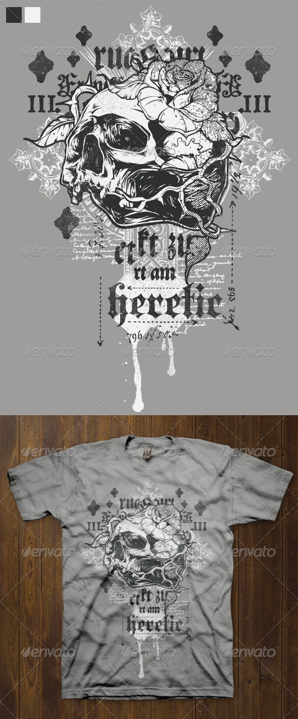 T-shirt Design Template 1 - Grunge Designs