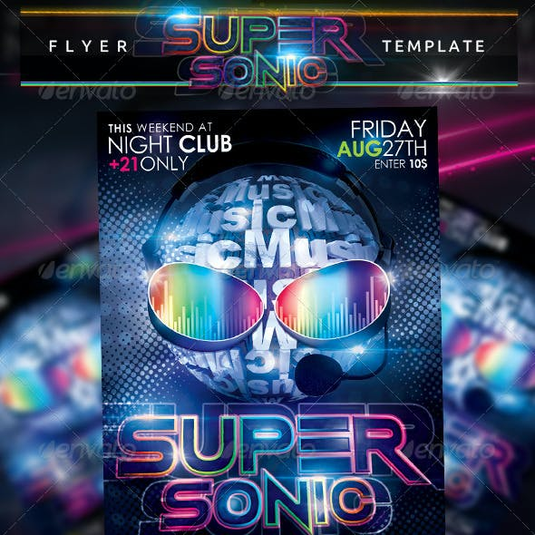 Super Sonic Flyer Template