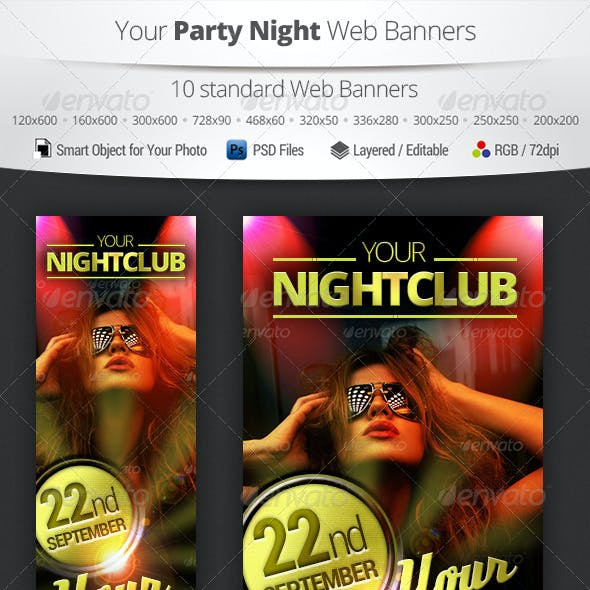 Party Night Web Banners