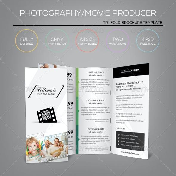 Photography/Movie Producer - Tri-Fold Brochure