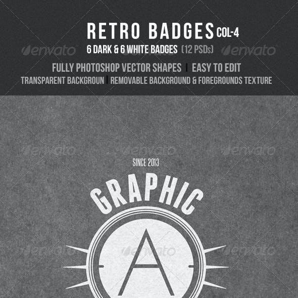 Retro Badges Col 4