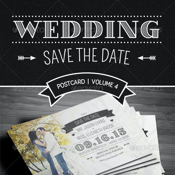 Save The Date Postcard | Volume 4