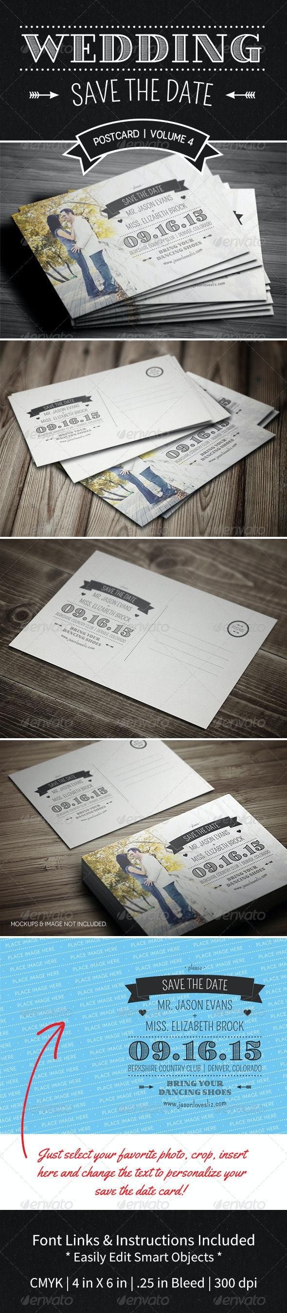 Save The Date Postcard | Volume 4 - Weddings Cards & Invites
