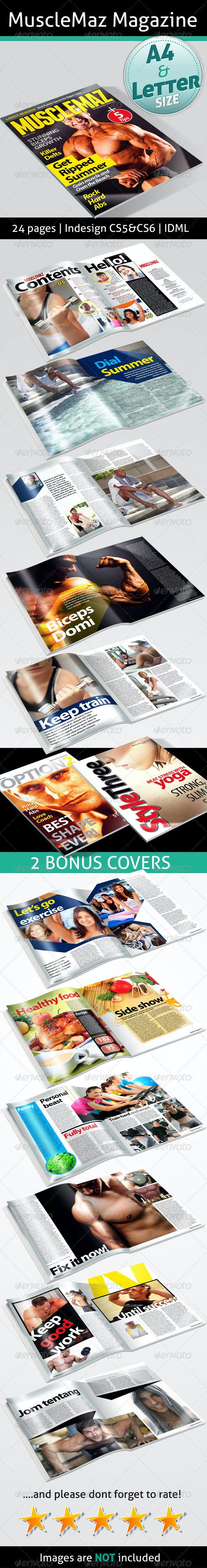 MuscleMaz Magazine - Magazines Print Templates