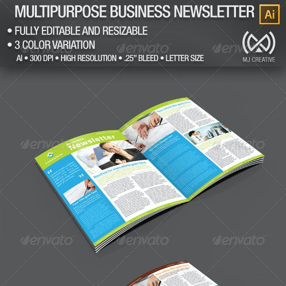 2 Pages Multi-purpose Business Newsletter