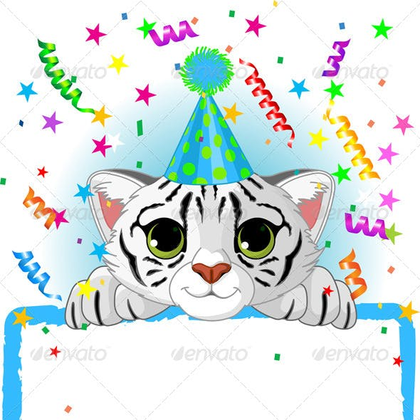 Baby White Tiger Birthday