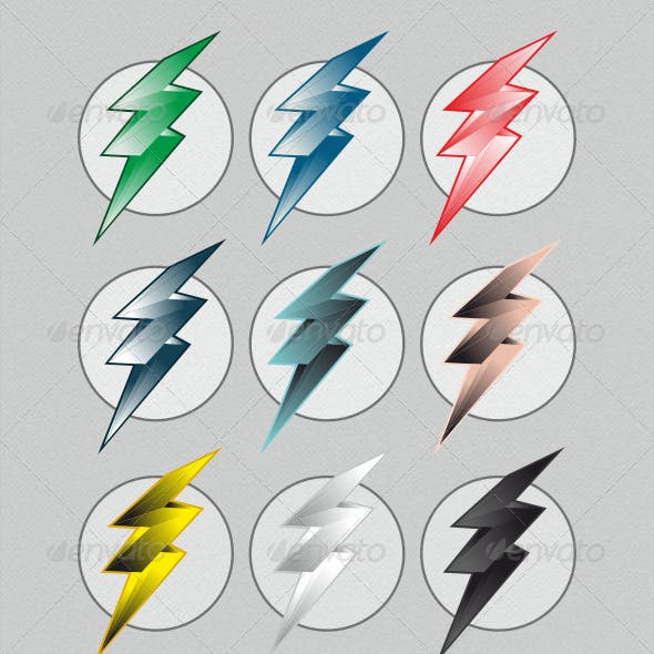 Colorful Lightning Bolts