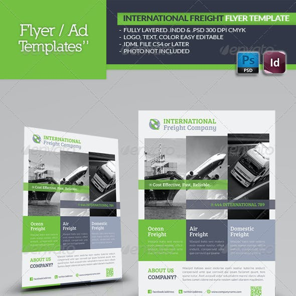 International Freight Flyer Template