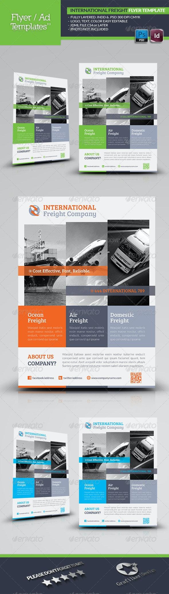 International Freight Flyer Template - Corporate Flyers