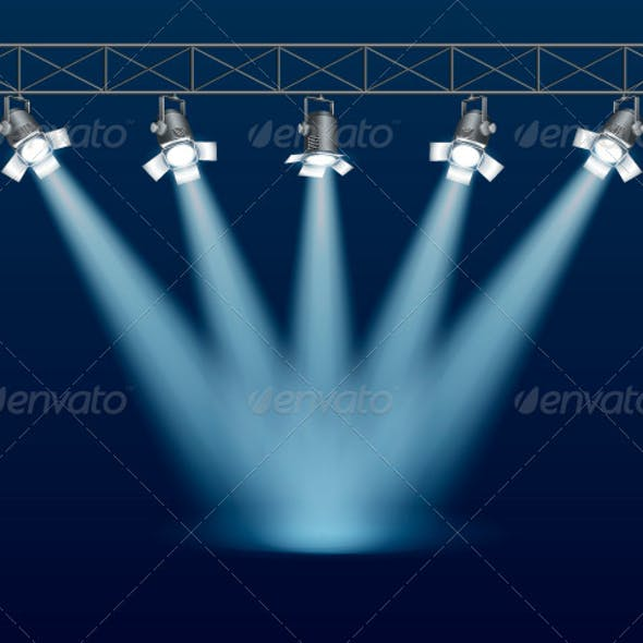 Stage with Floodlight