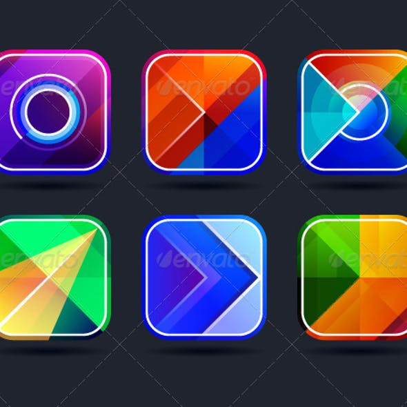 Abstract App Icons Frames