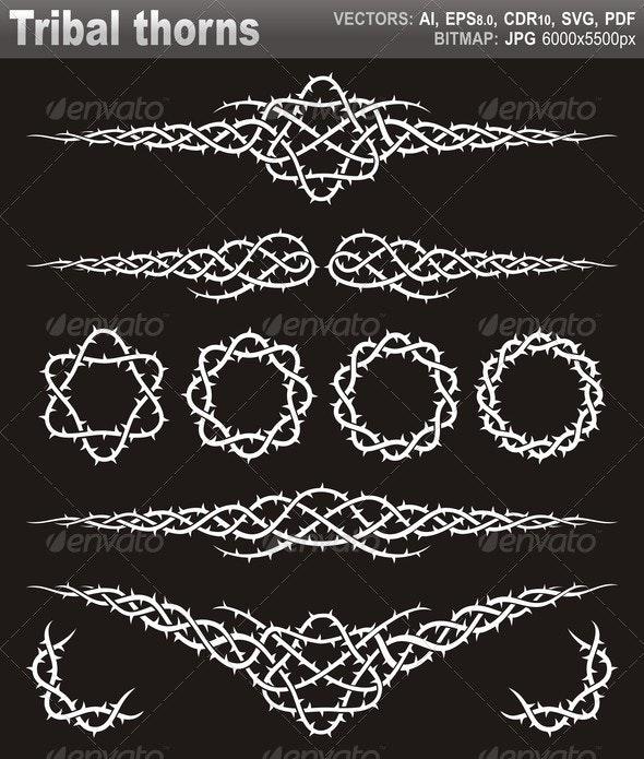 Tribal Thorns - Decorative Vectors