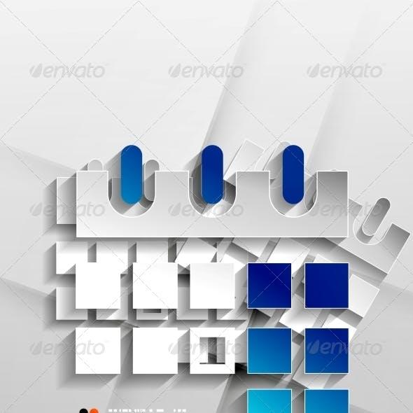 Vector Calendar Organizer Paper Design