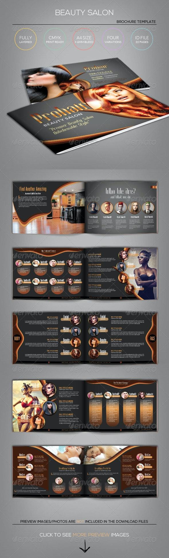 Modern Beauty Salon - Brochure Template - Catalogs Brochures
