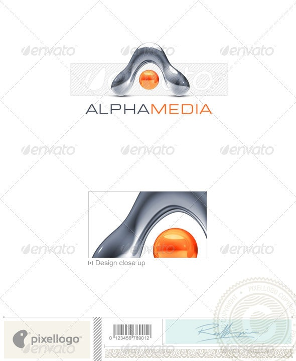 Media Logo 3D-751 - 3d Abstract