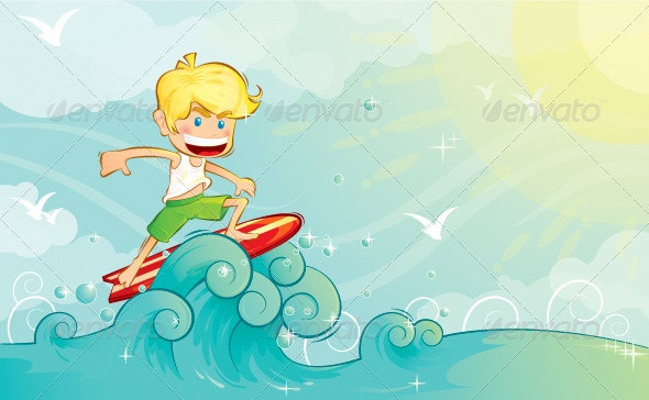 Surf boy  - Seasons/Holidays Conceptual