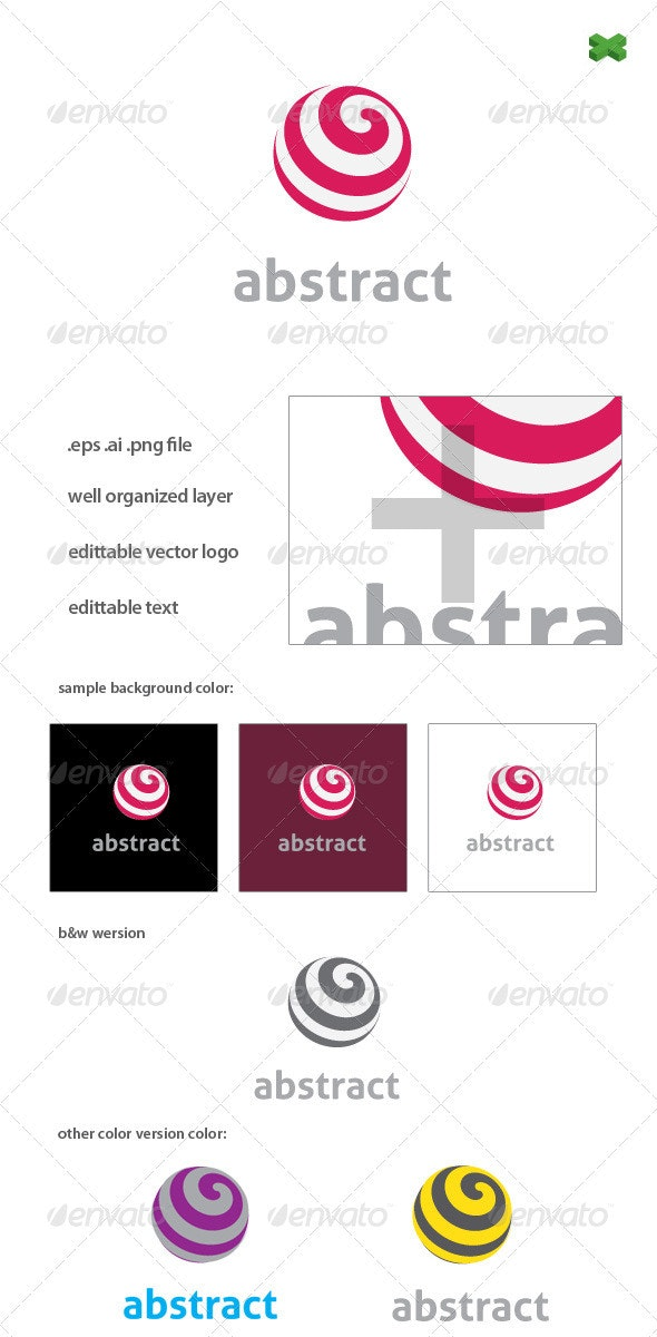 Spin Logo Template - Vector Abstract