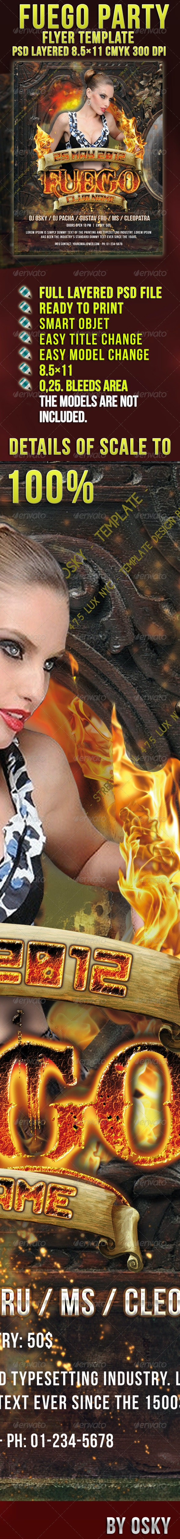 Fuego Party Flyer - Clubs & Parties Events