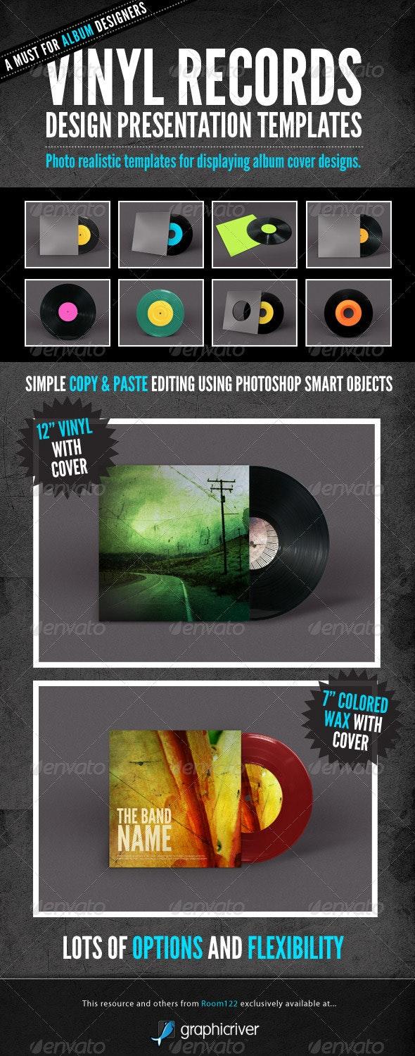 Vinyl Record Album Mock-Ups - Discs Packaging