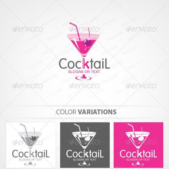 Cocktail Bar Logo Template