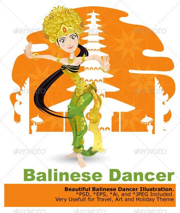 Balinese Dancer - Characters Vectors