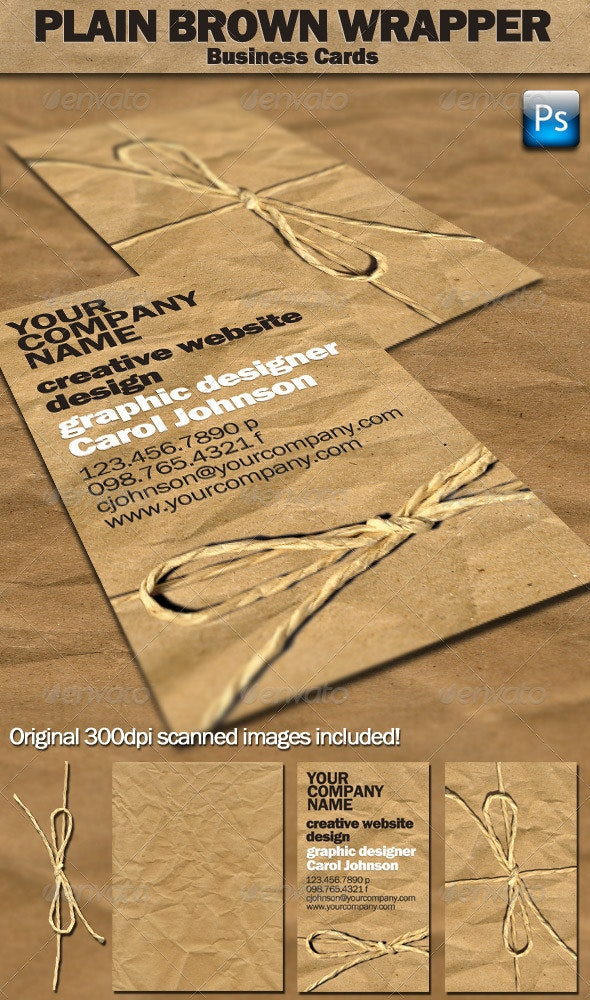 Plain Brown Wrapper Business Cards - Creative Business Cards