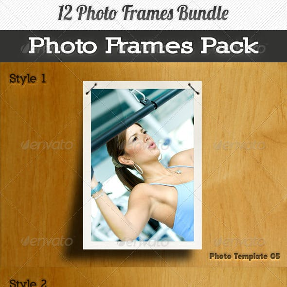 12 Photo Frames Bundle