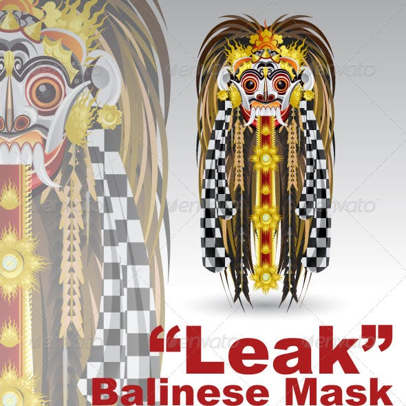 Leak Traditional Bali Demon Mask