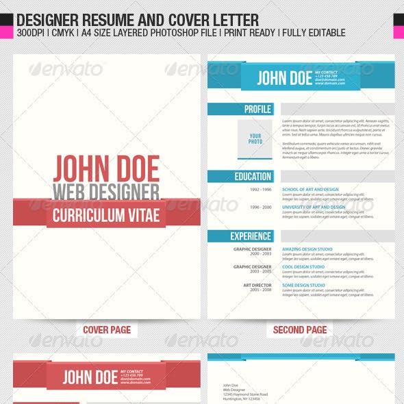 Designer Resume and Cover Letter