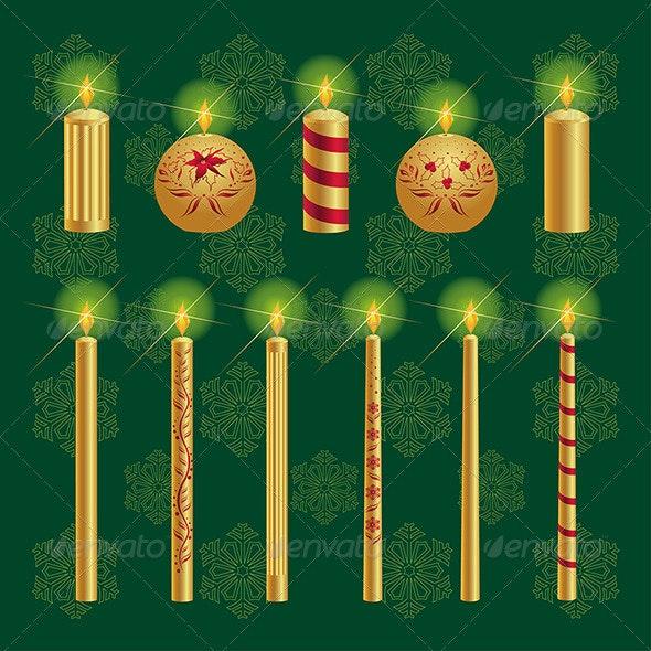 Christmas Candles Set - Christmas Seasons/Holidays