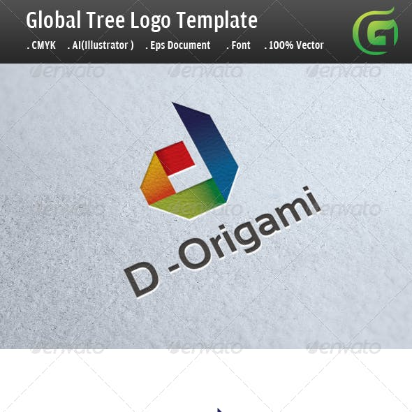 D - Origami Logo