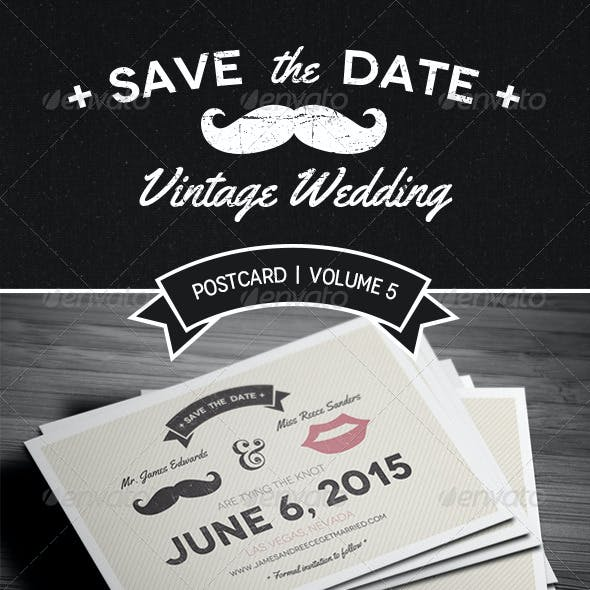 Save The Date Postcard | Volume 5