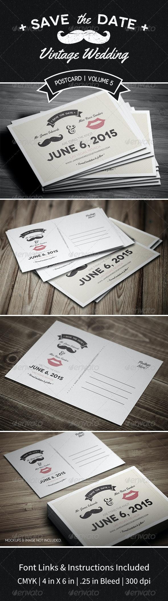 Save The Date Postcard | Volume 5 - Weddings Cards & Invites