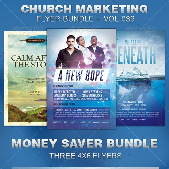 Church Marketing Flyer Bundle Vol 039