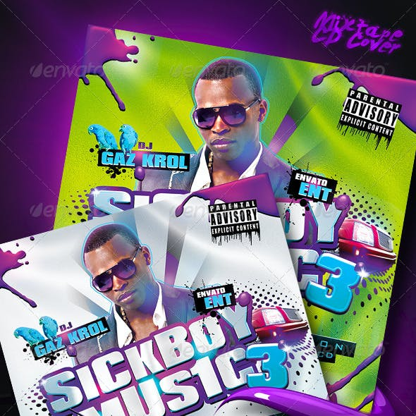 SickBoy Music - Mixtape CD Cover
