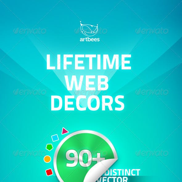 Lifetime Web Decors Badge Sticker tag Ribbon label