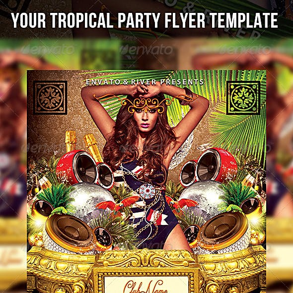Your Tropical Party Flyer Template