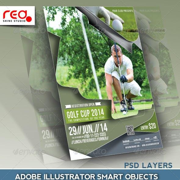 Golf & Snowboard Cup Flyer Template