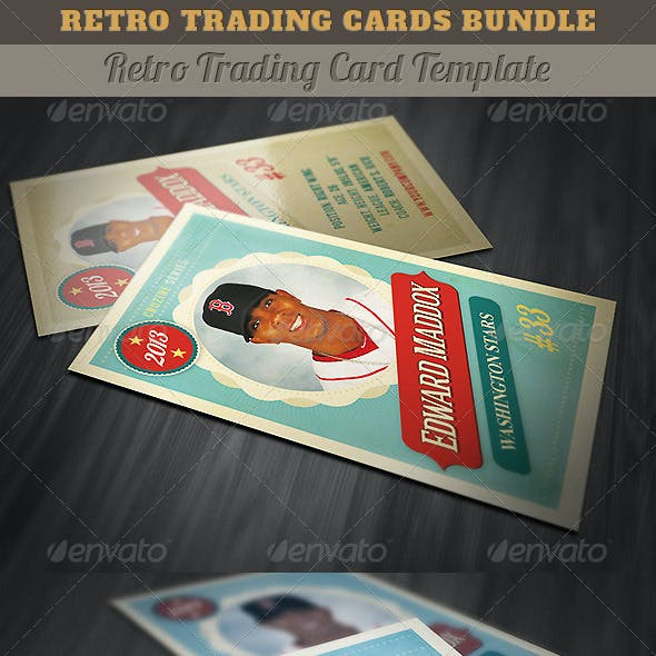 Retro Trading Cards Bundle