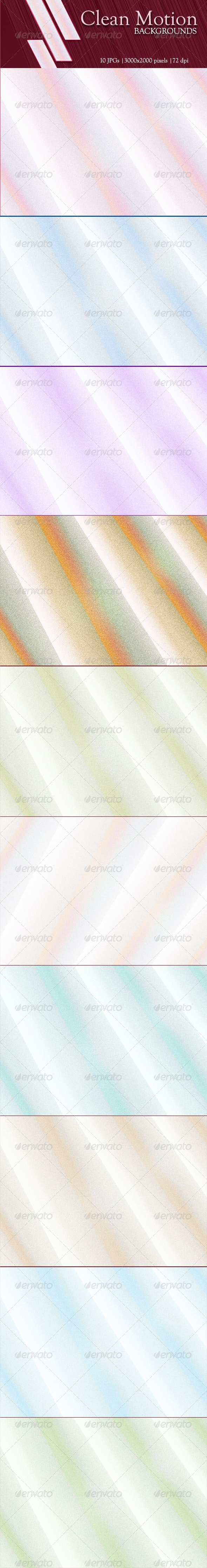 10 Clean Motion Backgrounds - Abstract Backgrounds