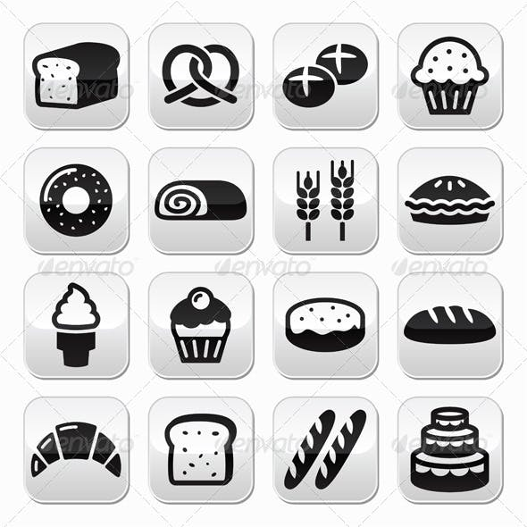 Bakery, Pastry Buttons