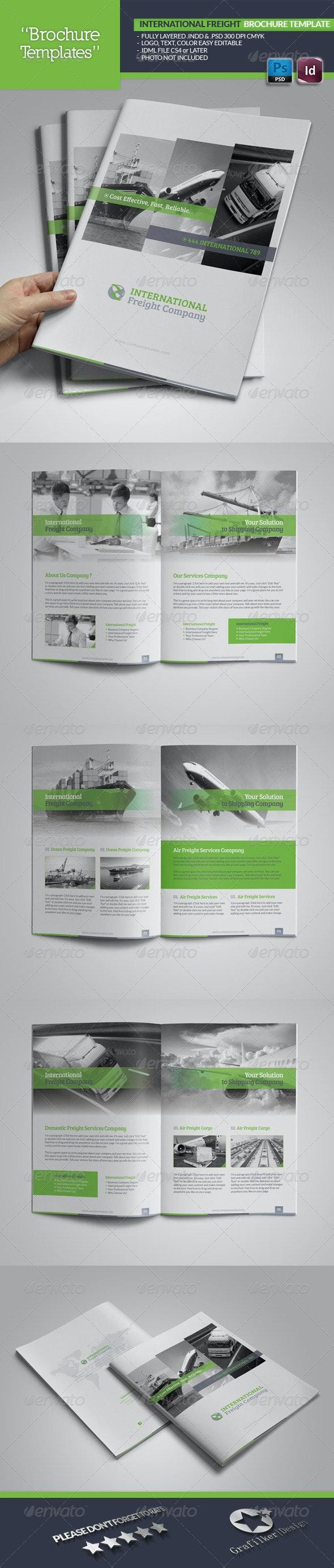 International Freight Brochure Template - Brochures Print Templates