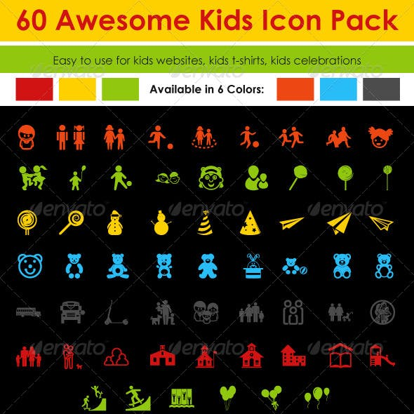 60 Kids Icon Pack