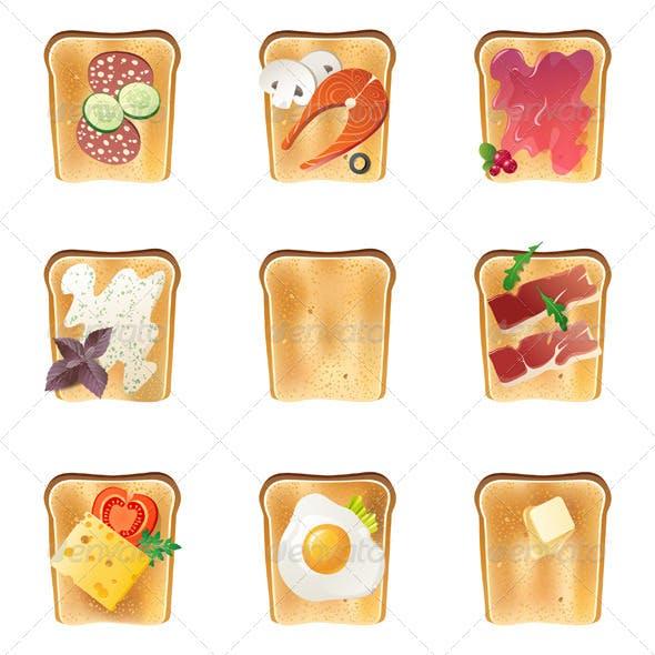 Toasts Icons Set