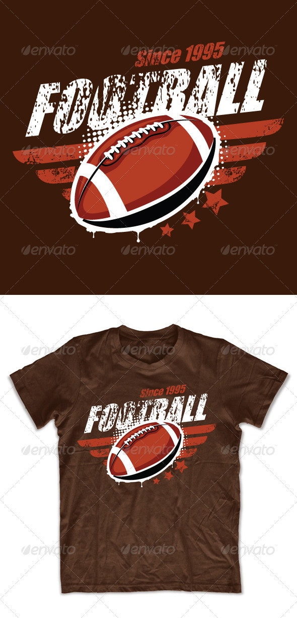 Grunge football T-shirt design - Sports & Teams T-Shirts