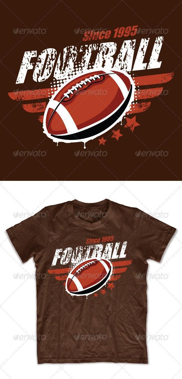 Grunge football T-shirt design - Sports & Teams T-Shirts