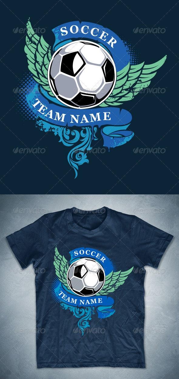 Grunge soccer T-shirt design - Sports & Teams T-Shirts