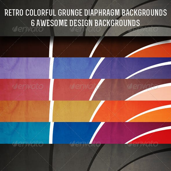 Retro Colorful Grunge Aperture Backgrounds