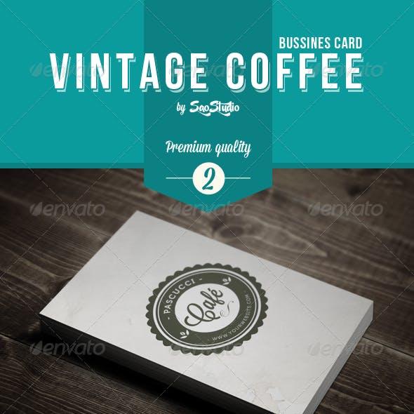 Vintage Coffee Business Card