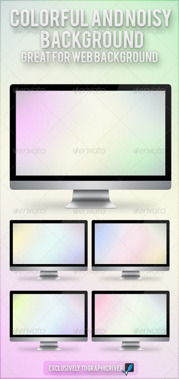 Colorful and Noisy Background - Backgrounds Graphics